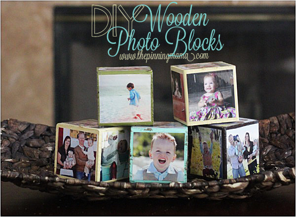 DIY Wooden Photo Blocks. Adorable decor idea. Kids can stack them and build with them, or look at the pictures and play with them.