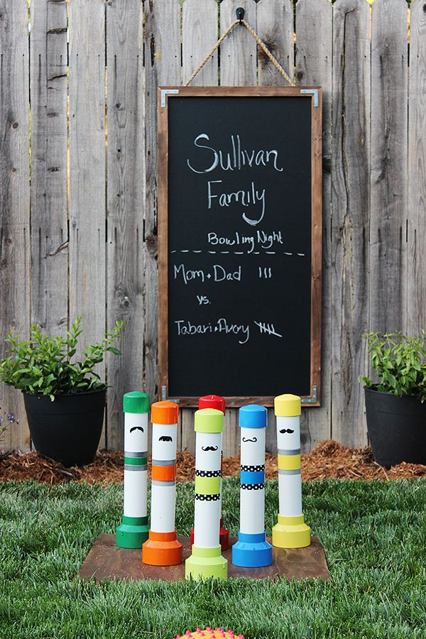 DIY PVC Pipe Bowling Game. Transform PVC pipes into bowling pins and do backyard bowling. There are lots of fun bowling on the lawn and knocking down these fun PVC pins.