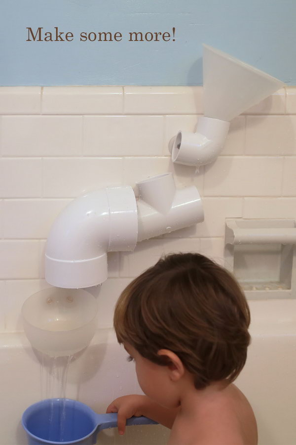 DIY PVC Bath Toys. It would make a fun gift for a little water and construction lover.