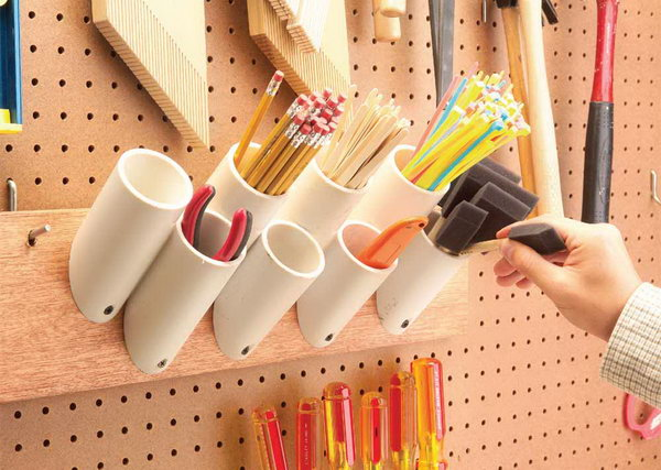 diy pvc pipe storage ideas