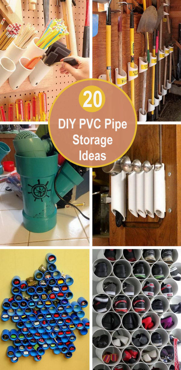 20 DIY PVC Pipe Storage Ideas.