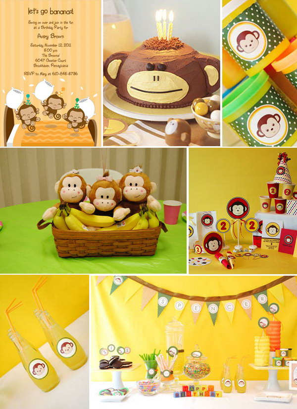 What a cute theme for a birthday party! Monkey and banana are fabulous! Most important, this great party is very do able within your budget.
