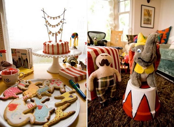 I really have a strong liking on this vintage birthday party. Circus was the theme of this amazing party.