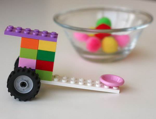 Lego Catapult. Most kids are interested in LEGO. A Lego catapult will be a great toy for your kids. Here is a video about how to build a simple Lego catapult.