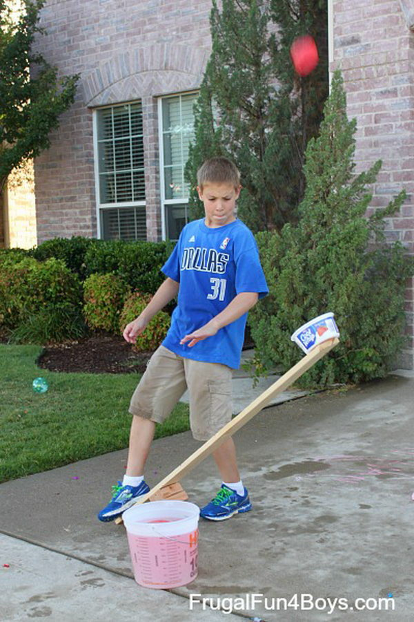 Water Balloon Catapults. With the approaching of summer, you can make a water balloon catapult, which is a great project for a hot day. Most teen girls or boys will love this toy very much. Learn how to make it here.