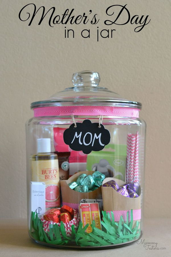 Mother's Day in a jar. The jar filled with love is universally loved and will brighten her day.
