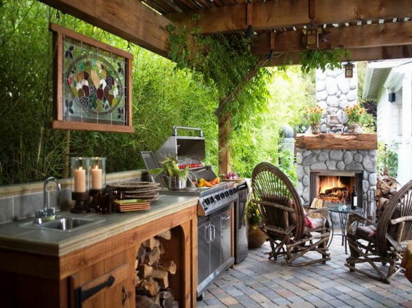 Cool Living Space. We wouldn't go inside at all this summer if we had this cool space to enjoy outside.