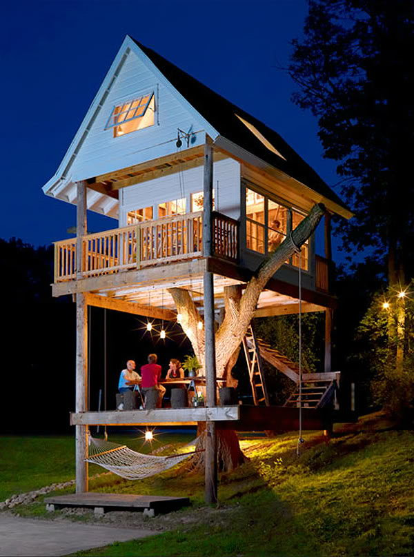 Treehouse. If you're doing a huge remodel, ask your contractor about tacking on a treehouse or guesthouse. It's really cool.