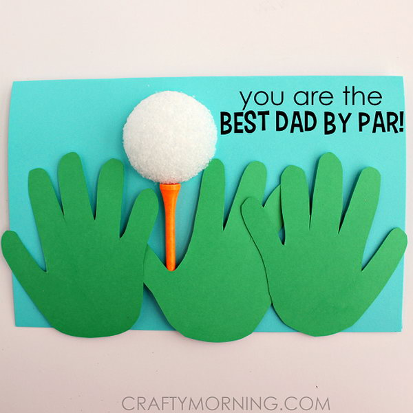 Handprint Golfer Father's Day Card