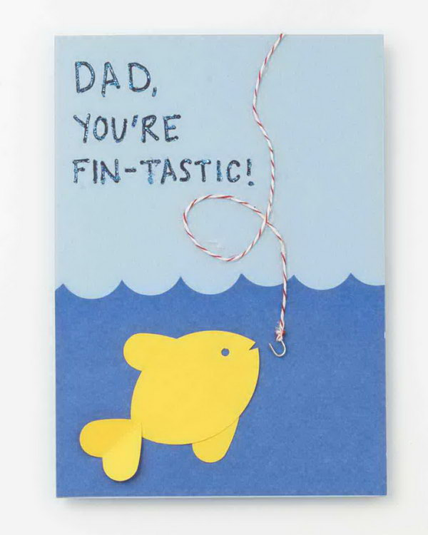 Fin-Tastic Fishy Father's Day Card