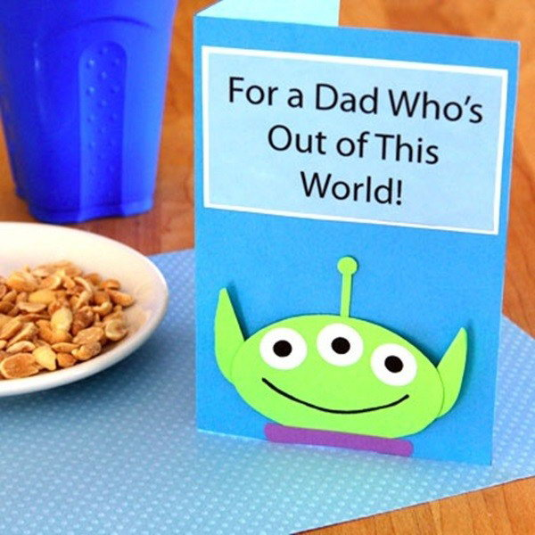DIY For a Dad Who's out of This World! Father's Day Card