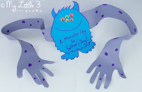 Fathers Day Monster Hand Card