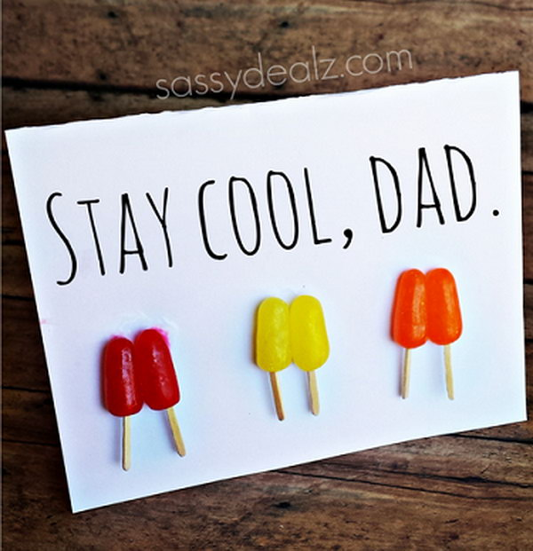 Stay Cool Popsicle Father's Day Card