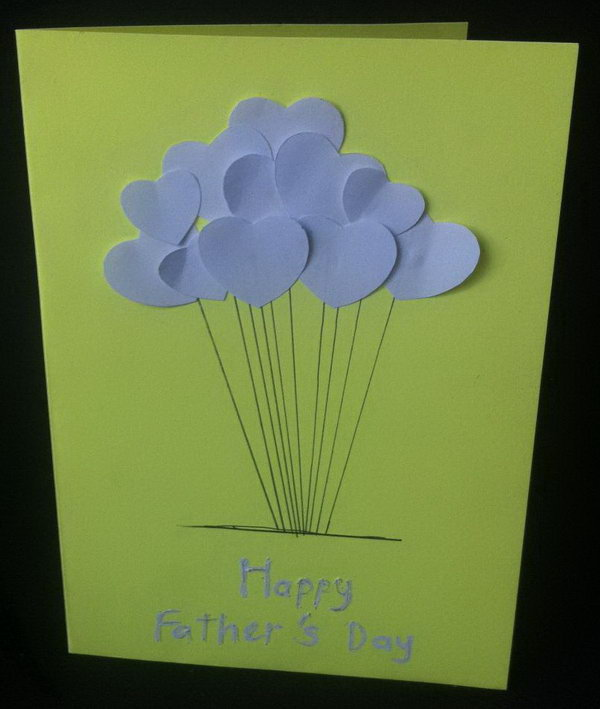 DIY Easy Heart Happy Father's Day Card