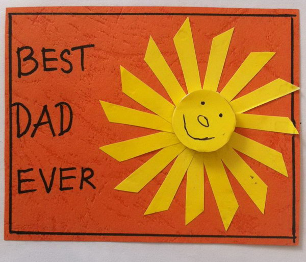 DIY Sunshine Father's Day Card Craft