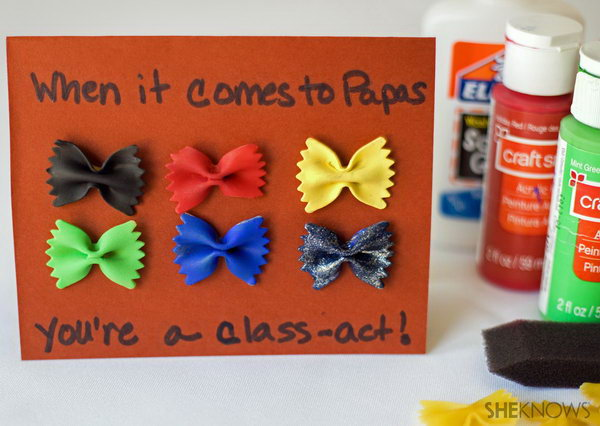 Bow Tie pasta Father's Day Card