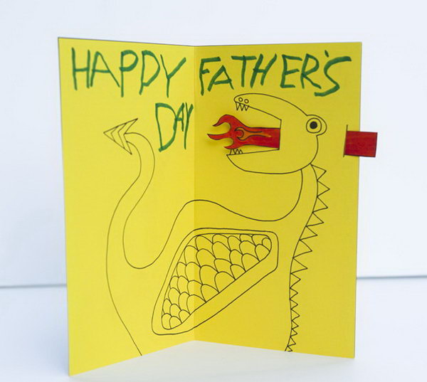 DIY Animated Father's Day Dragon Card. This cool animated fire breathing dragon card is pretty impressive. The fire tongue really pop up the card. If you want to get in on the action, please see the instructions here.