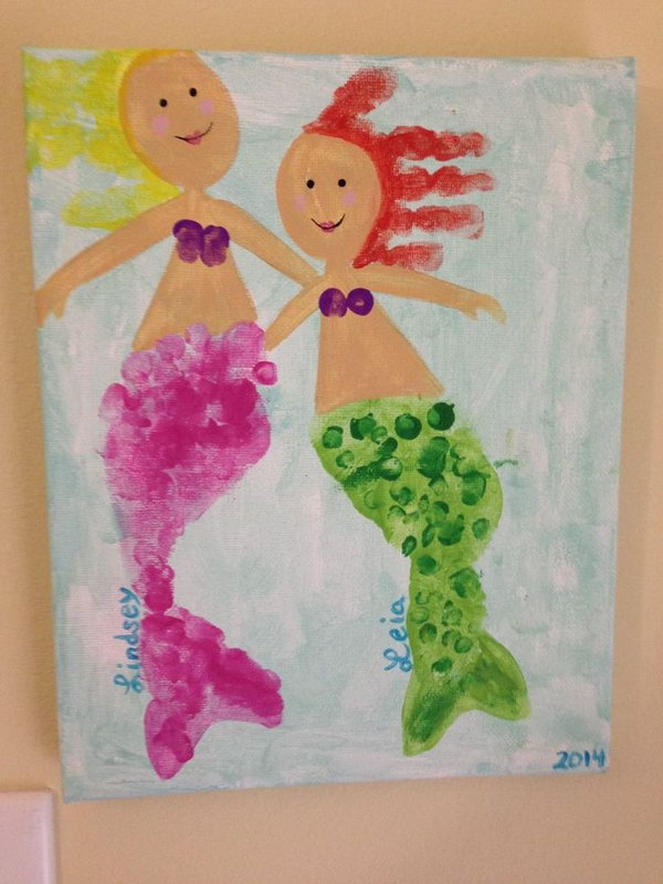 Handprint and Footprint Mermaid.