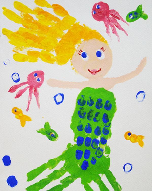 Handprint Mermaid.