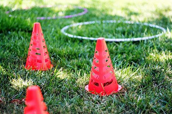 Backyard Obstacle Course. Set up obstacle course in your backyard. Mark up some signs to make the kids acting like animals as they make their way through it. It's such a creative and funny way to get kids moving on summer days.