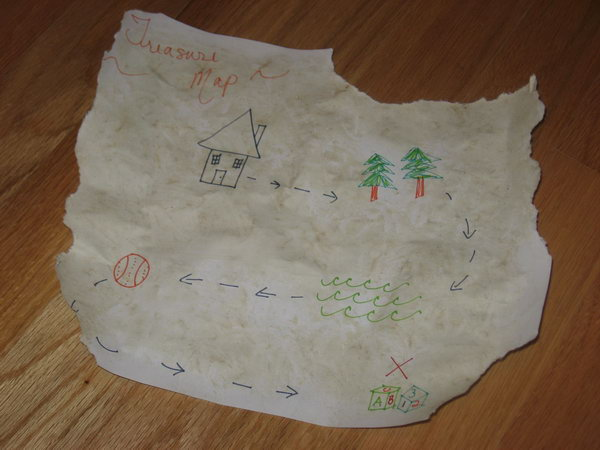 Treasure Map. Draw a treasure map with permanent markers. Use things in your backyard as the stops in the map. You should hide the treasure following the direction of the map. It must be very interesting and surprising for your kid to play this in summer.