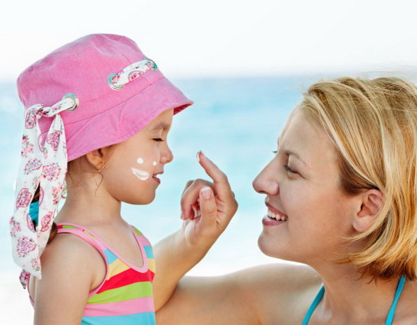 Sunscreen. One of the biggest dangers of summer for your kids is sun poisoning. According to the Skin Cancer Foundation, even one blistering sunburn during childhood will double your kids' chances of developing melanoma,  so make sure that your kids put on sunscreen  at least 15 minutes before  they go outside.