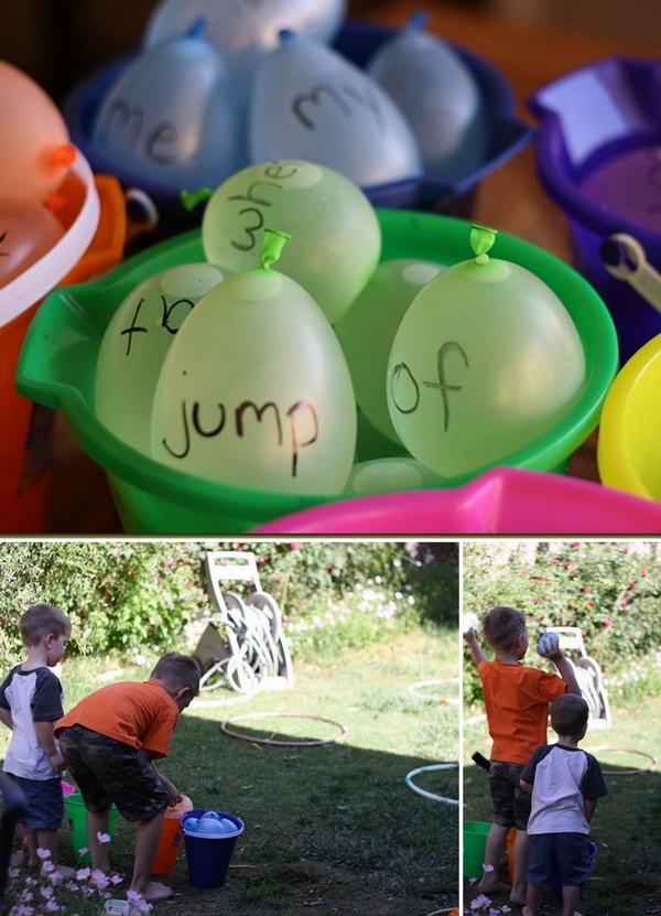 Water Balloon Sight Words. Fill the balloons with water and write words on them. Ask one kid to read the words loudly and the other to toss balloons at one of the hoops.The kids can grasp all the sight words in this funny way.