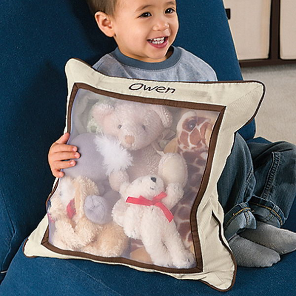 Put Their Stuffed Animals Inside A Cute Mesh Pillow