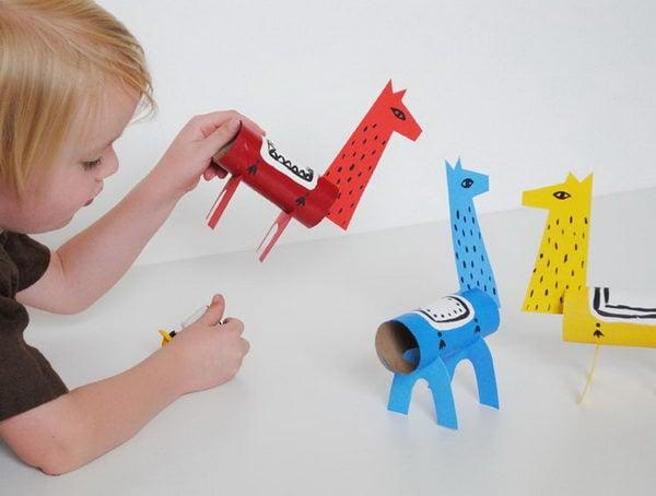 1 homemade reindeer craft
