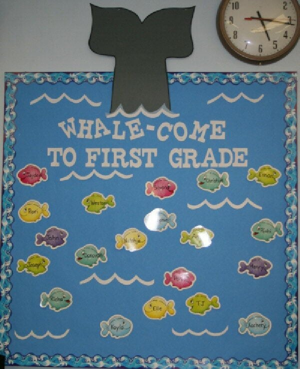 1 whale come bulletin board