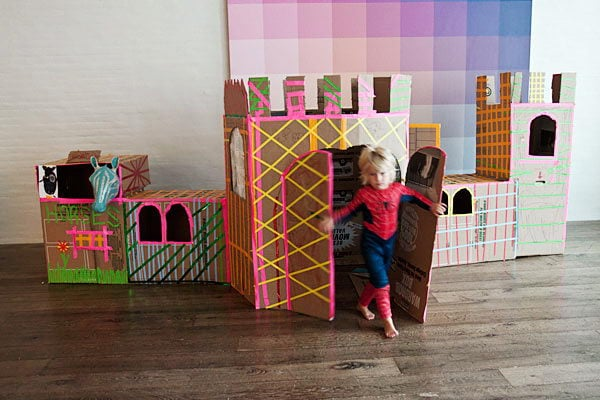 15 castle cardboard playhouse
