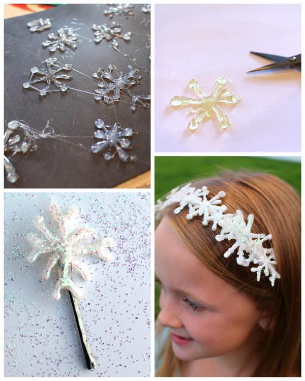 Frozen Snowflakes Hair Clips.