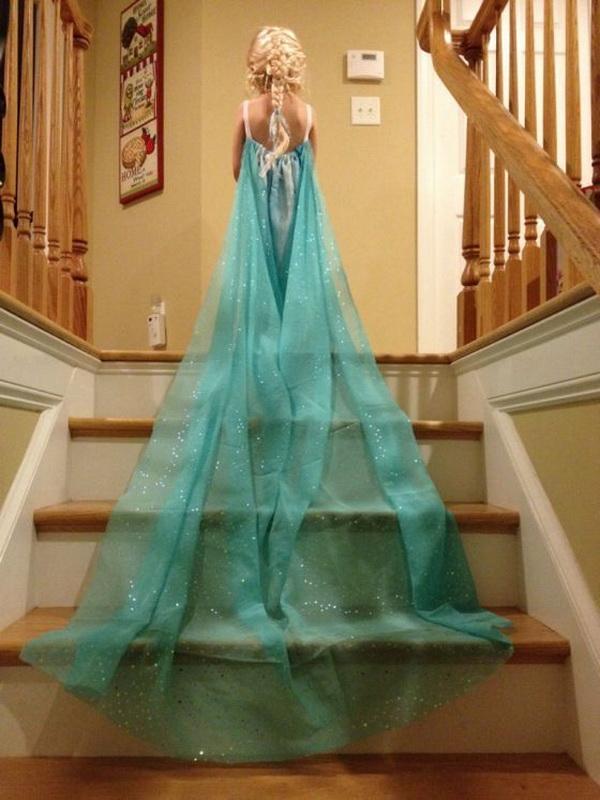 DIY Elsa Inspired Dress and Cape.