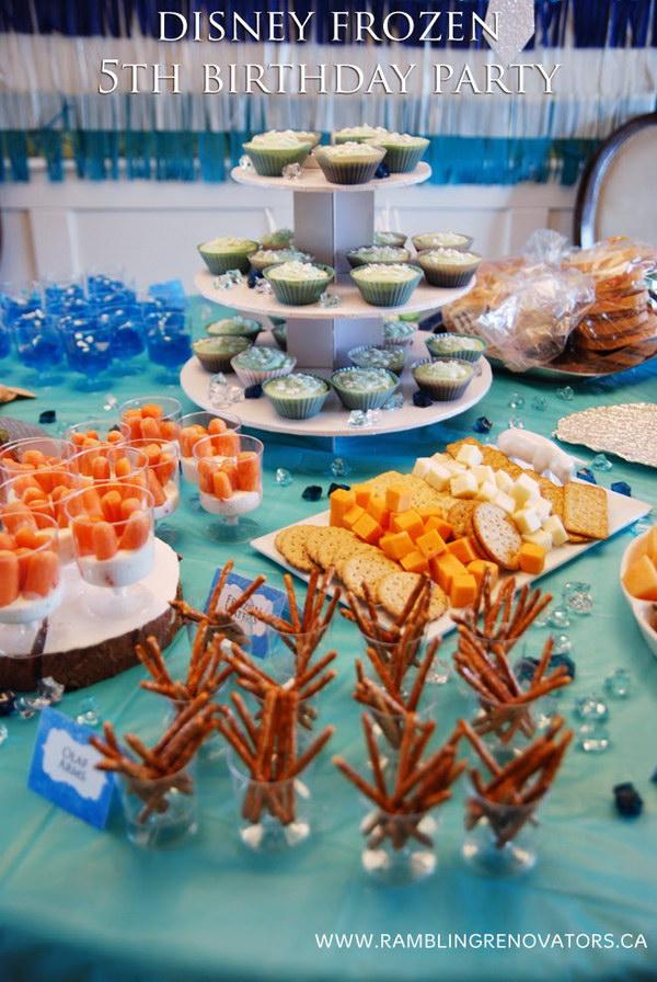 Frozen Party Food Ideas.