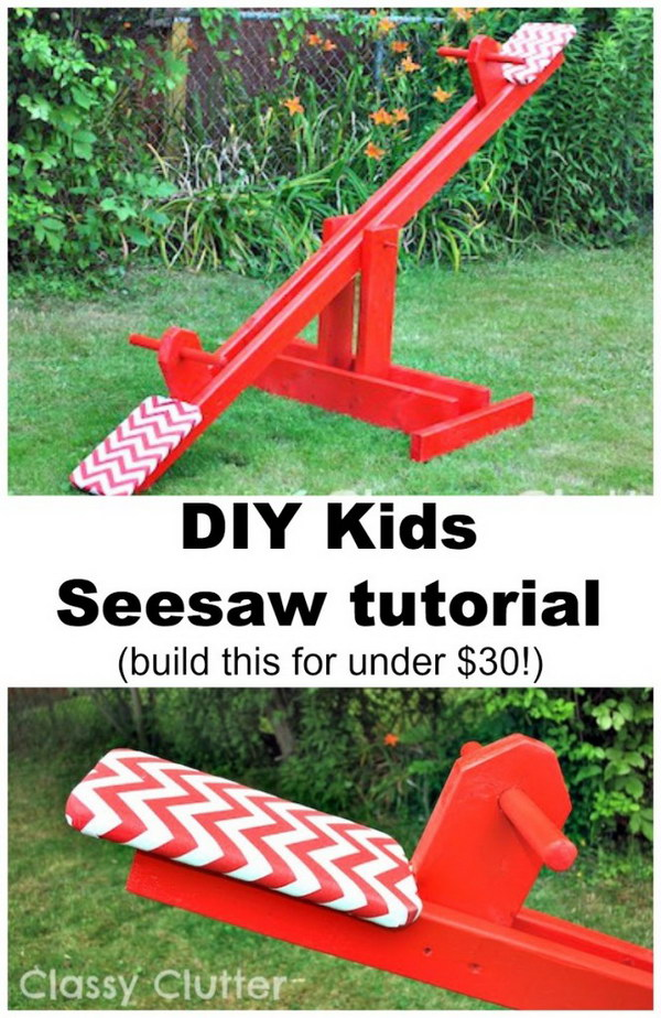 Make a Playful Seesaw for under $30.