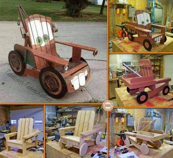 DIY Tow Mater Chair for Kids.
