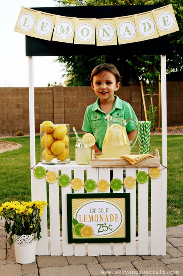 DIY Lemonade Stand .