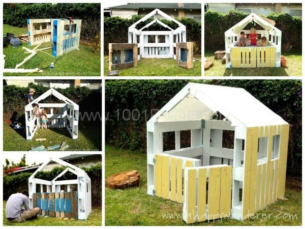 Outer Door Pallet Play House .
