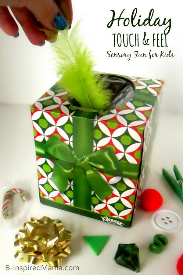 Sensory Fun with a DIY Holiday Touch and Feel Box
