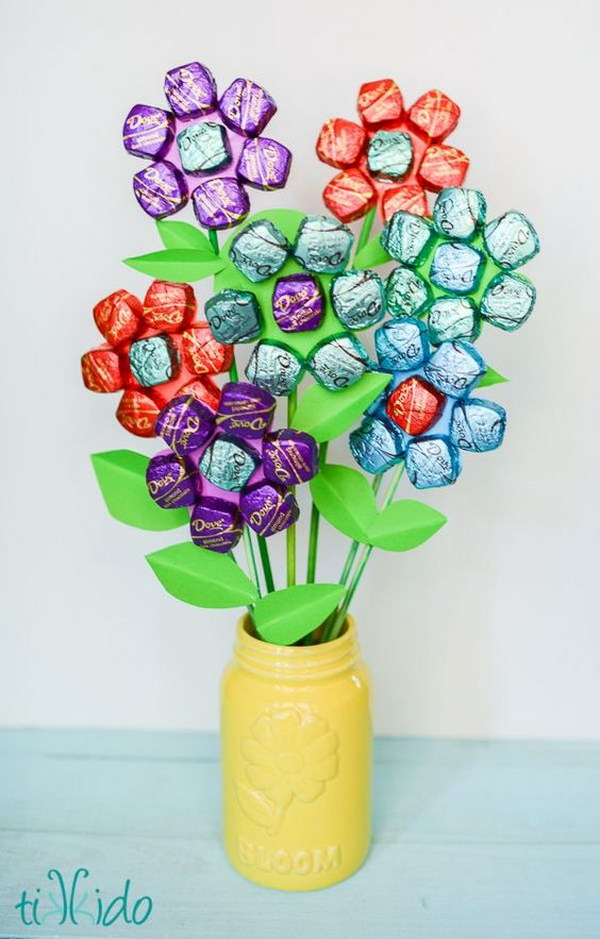 DIY  Mother's Day Spring Chocolate Bouquet