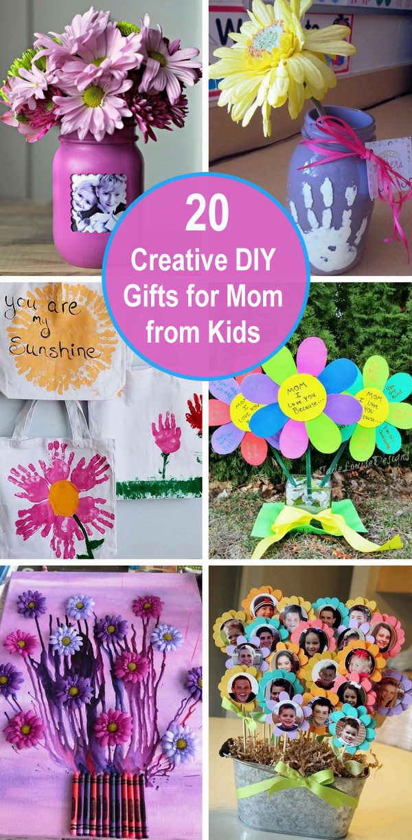 20+ Creative DIY Gifts For Mom from Kids.