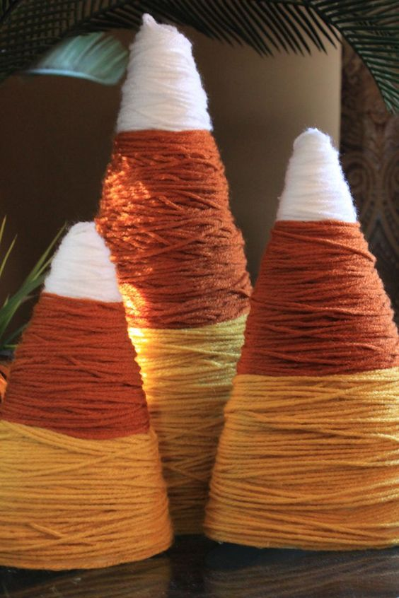 Yarn Candy Corn.
