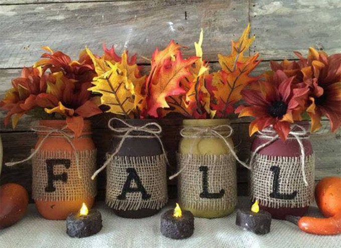 Fall Mason Jars.