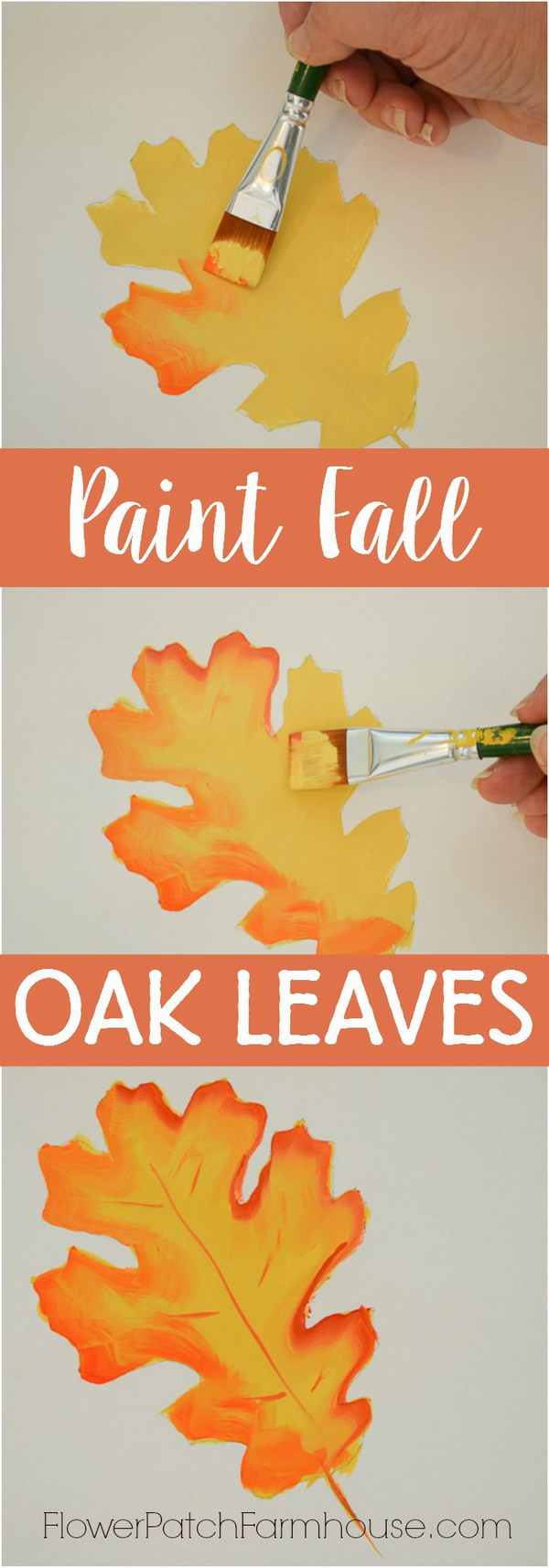 Paint Fall Oak Leaves.