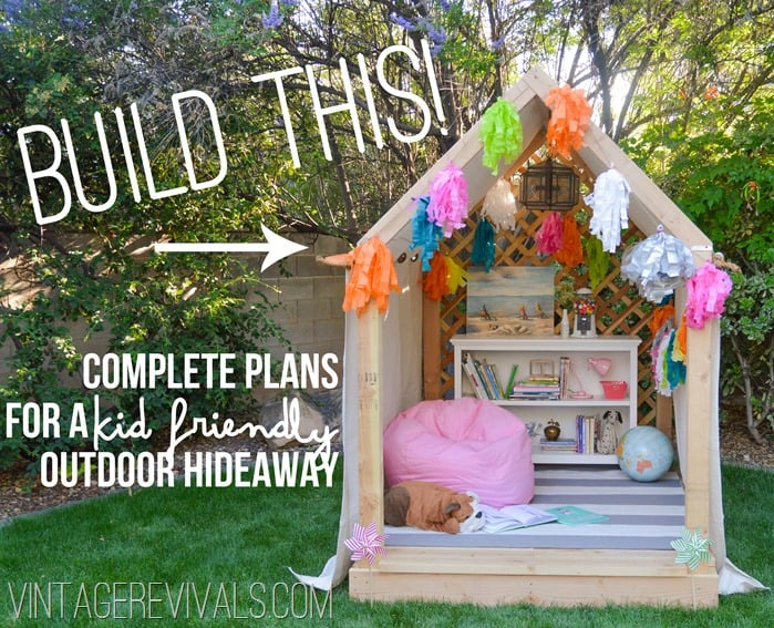 Awesome outdoor playhouses for kids for Used kids playhouse