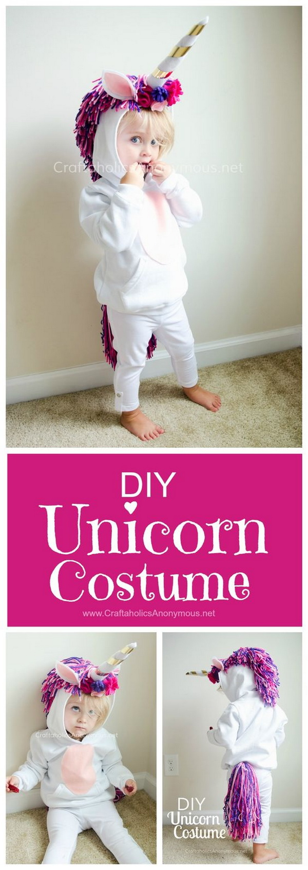 DIY Unicorn Costume for Kids.