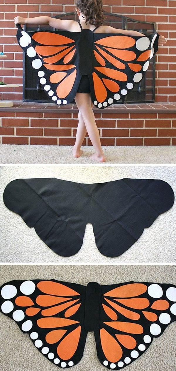 Felt Monarch Butterfly Wings.