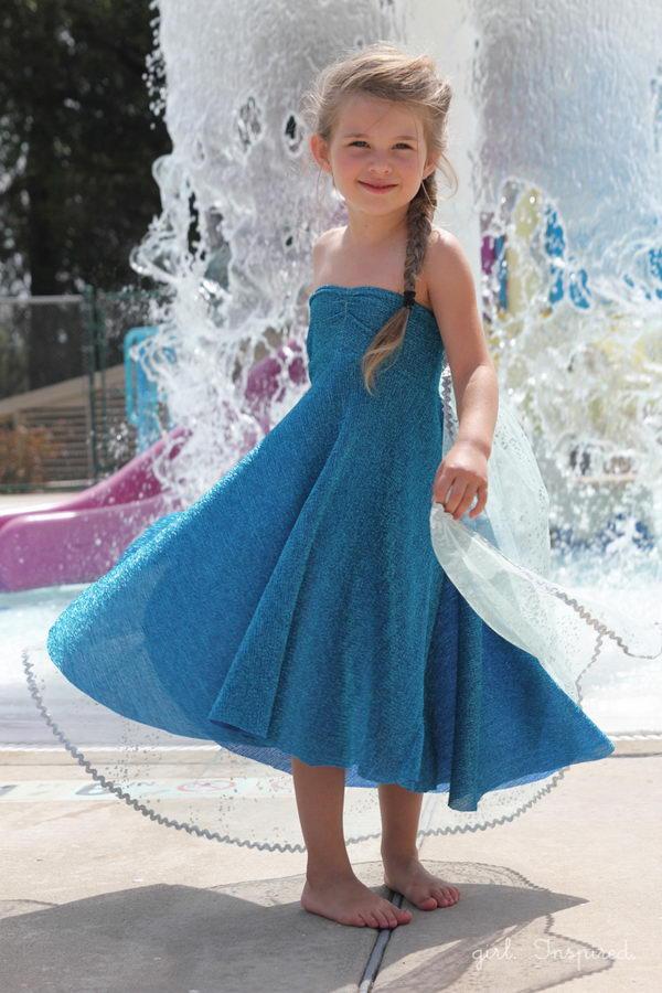 Elsa Ice Queen Halloween Costume. Elsa Dress tutorial