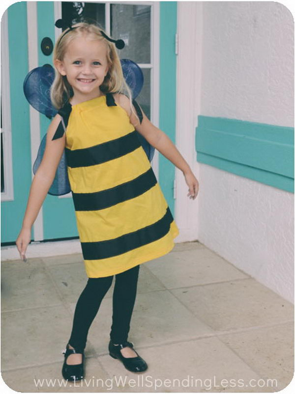 DIY Bumblebee Costume  .