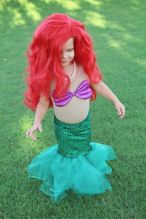 DIY Little Mermaid Costume.